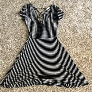 Tie-Up Stripped Dress
